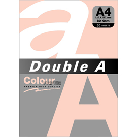 Double A 80gsm A4蜜桃橘/50張 DACP13005