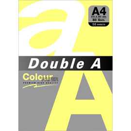Double A 80gsm A4檸檬黃/50張 DACP11001