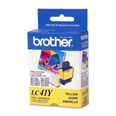 BROTHER 彩色墨水匣 黃色 LC-41Y /盒